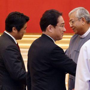 ティン・チョウ・ミャンマー大統領の表敬を受けました。