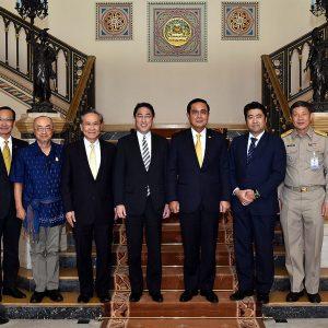 タイ首相府にてプラユット・チャンオチャ首相と会談しました。