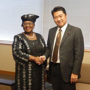 ンゴジ・オコンジョ=イウェアラ Gaviワクチンアライアンス理事長による表敬を受けました。