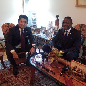 在京コートジジボワール大使主催の夕食会に出席しました。