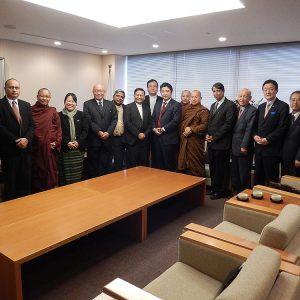 WCRPミャンマー委員会ご一行の表敬を受けました。