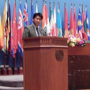 タイの国連アジア太平洋経済社会委員会(ESCAP)第70回総会に出席しました。