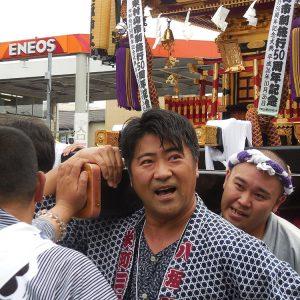 地元東村山市の八坂神社のお祭りに参加。
