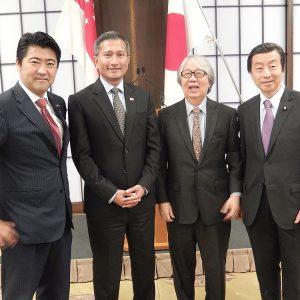 日本・シンガポール・シンポジウムに出席。外交関係樹立50周年を迎える本年を契機に、今後より一層の関係強化を行っていきたい旨をお伝えしました。