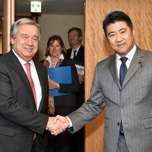 グレーテス国連難民高等弁務官の表敬を受けました。