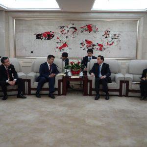 団長として「東村山2020東京オリパラ事前キャンプ招致団」を率いて中国を訪問してきました。楊中国オリンピック委員会副主席と会談。